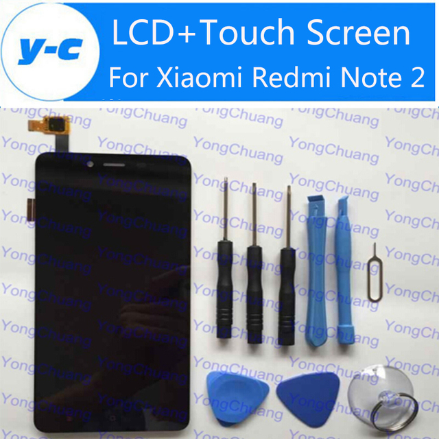 New LCD Display+Touch Screen For Xiaomi Redmi Note 2 Digitizer Glass Panel For Xiaomi Redmi Note 2 Prime 1920X1080 5.5 inch