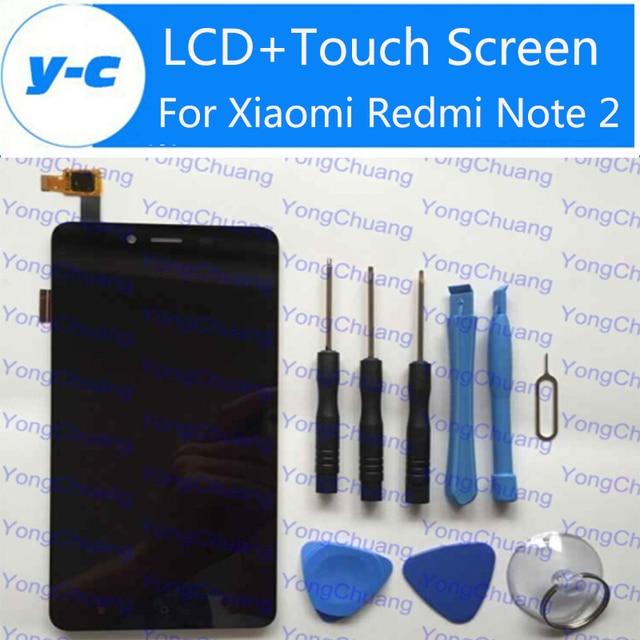 Novo display lcd + de toque digitador da tela para xiaomi redmi note 2 painel de vidro para xiaomi redmi note 2 prime 1920x1080 5.5 polegadas