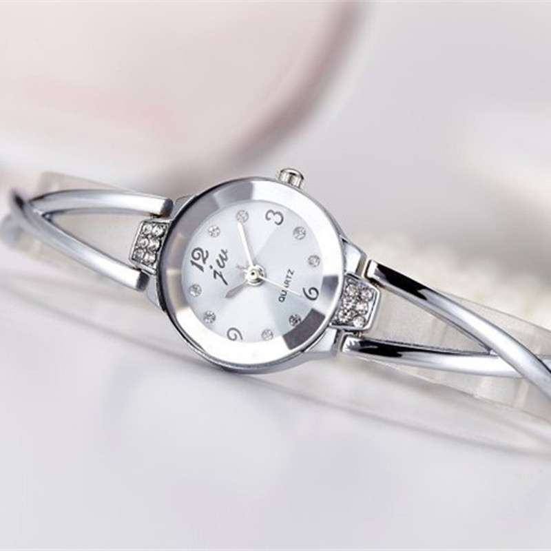 New Fashion Rhinestone Watches Women Luxury Brand Stainless Steel Bracelet watches Ladies Quartz Dress Watches reloj mujer Clock 6