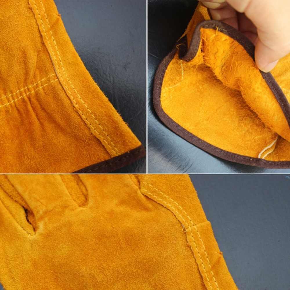 ペア/セット耐火耐久性牛革溶接機手袋抗熱作業安全手袋溶接金属手ツール保護新しい
