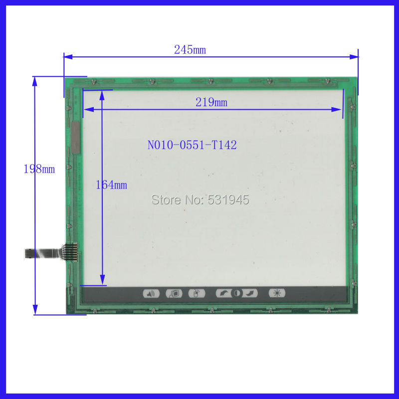 NEW N010-0551-T142 245mm*198mm 10.1Inch Touch Screen panels verlay kit Free Shipping 245*198
