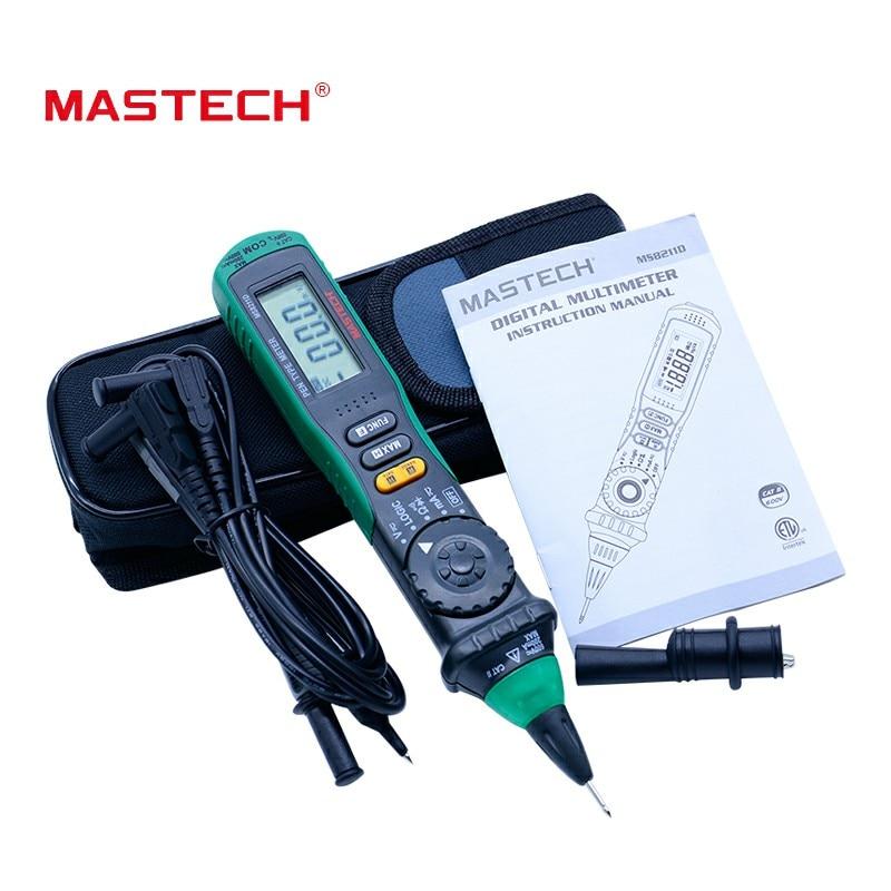 MASTECH MS8211D Auto Faixa de Multímetro Digital Pen-Tipo Medidor DMM Multímetro Testador De Tensão Atual Tester Nível de Lógica