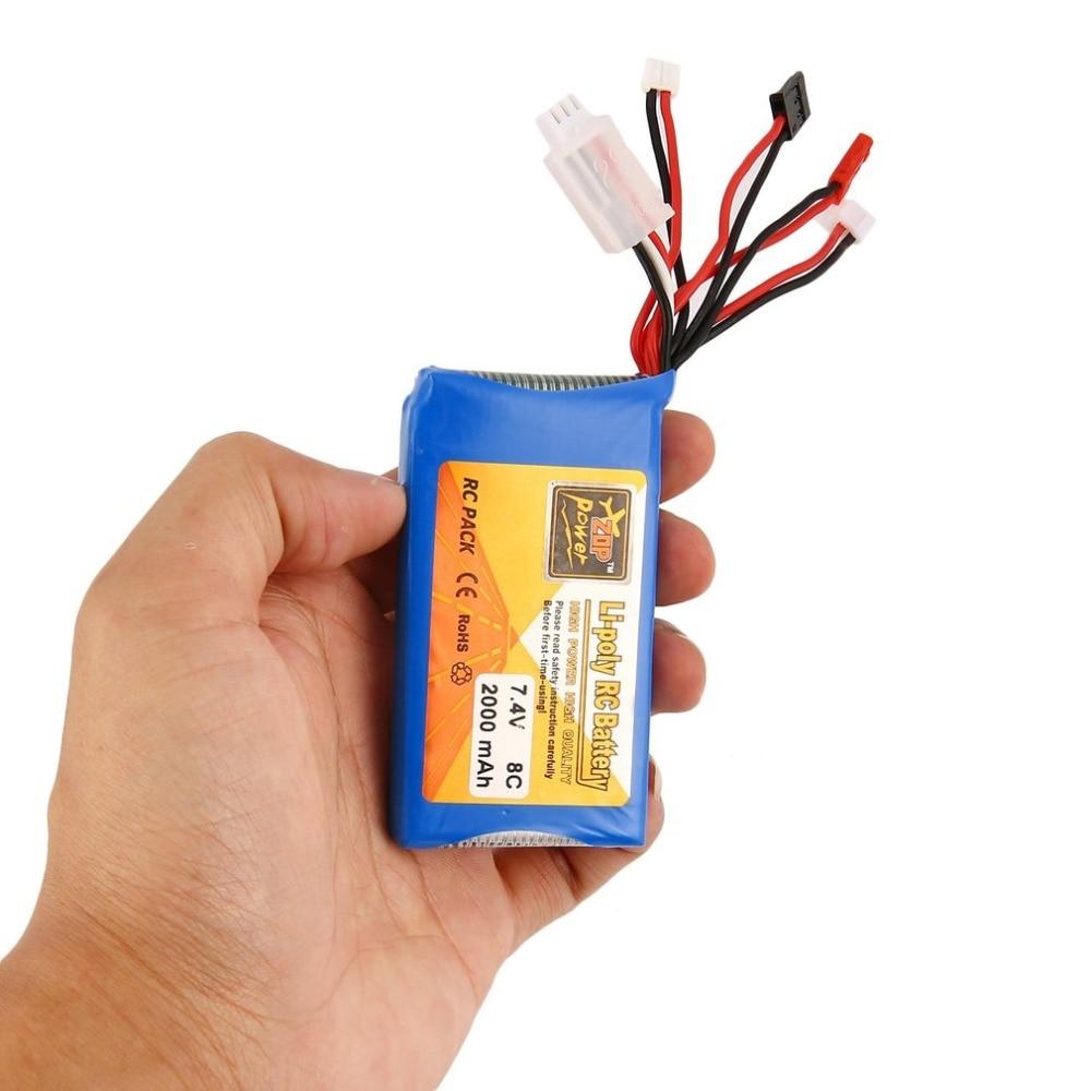 Drop Shipping 1pcs Lipo Battery 7.4V 2000MAH 8C RC Battery For FrSky TARANIS Q X7 2.4G ACCST 16CH Telemetry Radio Transmitter цена