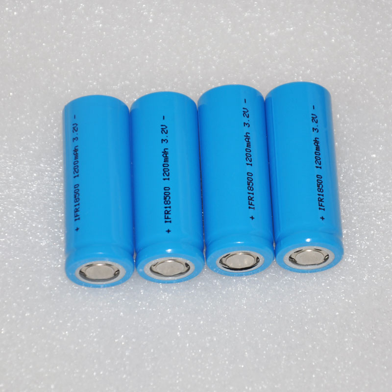 2 3 4 5 6pcs IFR 3.2v 18500 rechargeable LiFePo4 battery lithium ion li-ion cell 1200MAH for LED flashlight torch and speaker image