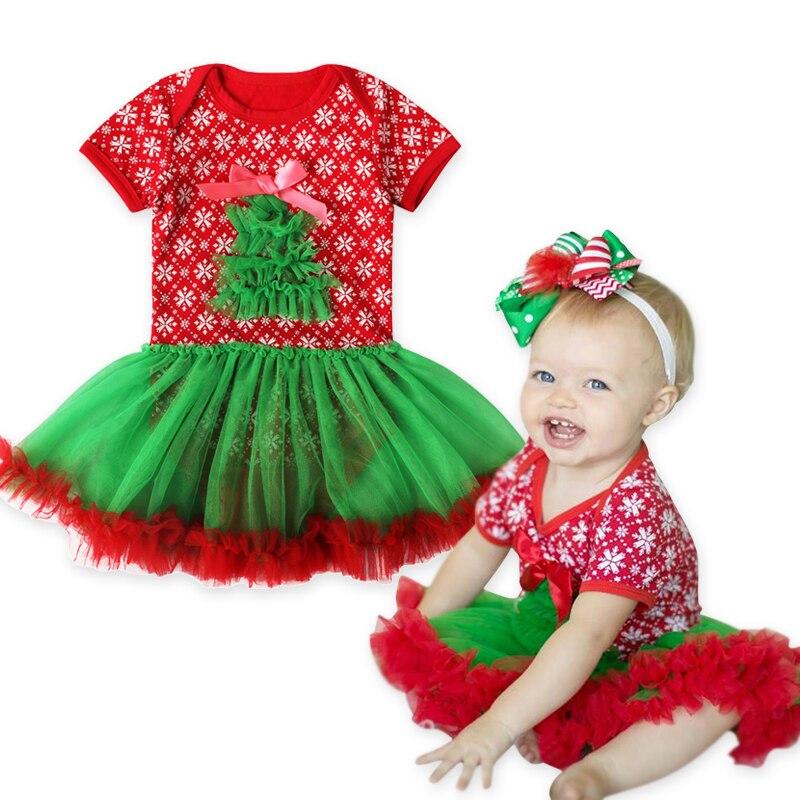 Christmas Tree Dress Costume: Rorychen Brand Baby Christmas Girls Costume Girls Lovely