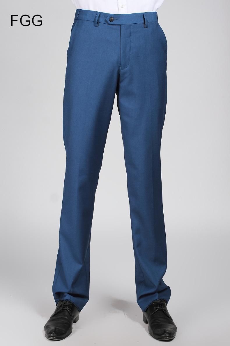 Aliexpress.com  Buy Wedding Party Prom Bestman Groom Royal Blue Pants For Men Elastic Waist ...