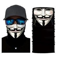 3D Ski Mask Ghost Balaclava Skull Cycling Snowboard Mask Scarf Neck Warmer Face Mask Bike Bandana Balaclava for Halloween