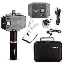 Comica CVM-WS50 (B) беспроводной петличный микрофон UHF 6-канал с ручка для Камера DSLR смартфон iPhone X 8 HUAWEI