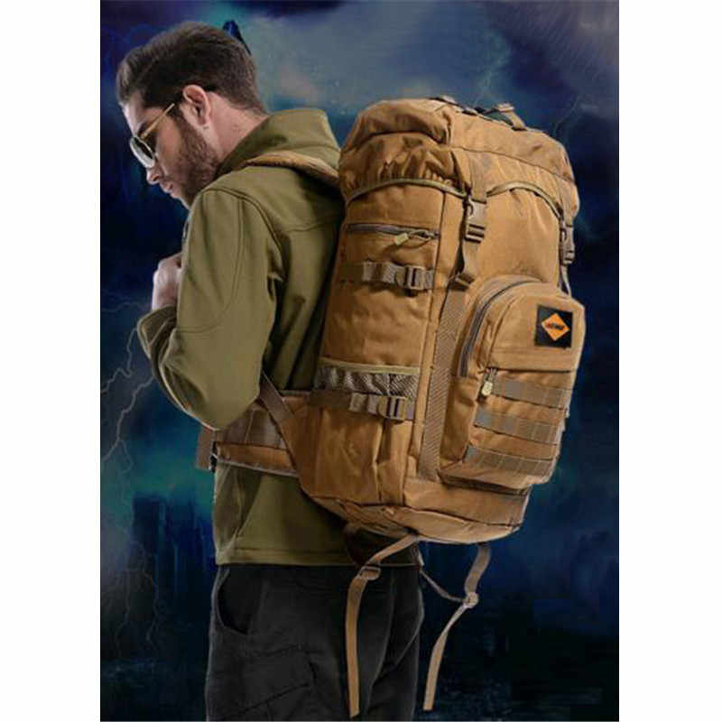 60 litres bags bag multi-purpose travel backpack large capacity Nylon backpack bags high grade waterproof 17-inch flat-panel