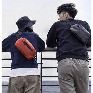Image 4 - Original Youpin 90 points fashion Pocket bag backpack waist pack waterproof 2 kinds of negative ways Warning light bar