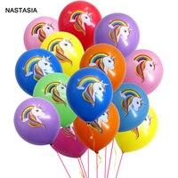 NASTASIA 30/50/100 шт./лот с принтом «Единорог» ярких цветов 12-дюймовый 2,8 г латексных воздушных шаров с разноцветные пижама в виде украшения