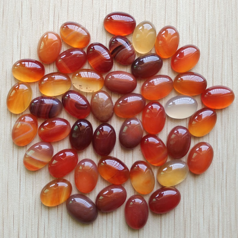 2017 Fashion Top Quality Natural Red Onyx Oval CAB CABOCHON Stone  10x14mm Beads For Jewelry Making Wholesale 50pcs/lot Free