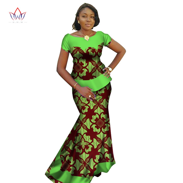 Summer 2019 African Skirt Set For Women Dashiki Plus size New Style African  Clothes Bazin Riche Dress for Party BRW WY2695 a7ee65e057d9