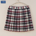 England style JK high waist pleated skirt Grey-red Plaid striped classic skirt japanese school uniform girls cosplay skirt