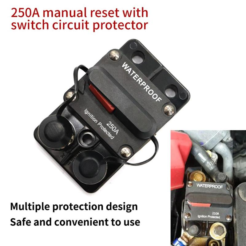 все цены на In-line Power Manual Reset Circuit Breaker With Over Current Leakage Protection Car Marine Stereo Audio Fuse Car Accessories