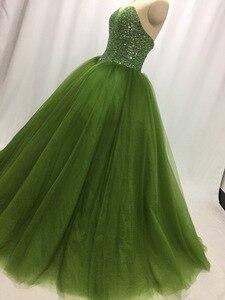 Image 4 - ILUSY suknia slubna חתונת שמלת 2019 מתוקה חרוזים באופן מלא V מותניים חתונה שמלת מפעל סיטונאי מחיר כלה שמלה