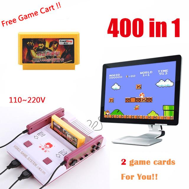 Subor juego casete máquina d99 + 400 en 1 nostalgia clásico Original de La Familia de Vídeo TV Jugador del Juego de Consola Con 2 gamepad jeux