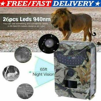 12MP HD 1080P cámara de rastreo para caza de Vida Silvestre de exploración IR visión nocturna Cam PR-100