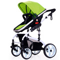 Luxury Baby Stroller Portable Lightweight High Landscape Baby Strollers for Child Sitting and Lying Shockproof Two-way Prams