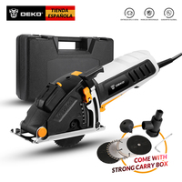 DEKO QD6905Original Mini Saw Power Tools with Laser,Table Saw, With 4 Blades, Dust passage, Allen key, Auxiliary handle, BMC BOX