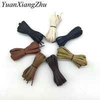 1 Pair Cotton cord flat shape shoelaces unisex high top casual leather boot shoe   laces   fashion brand waterproof shoelace P3