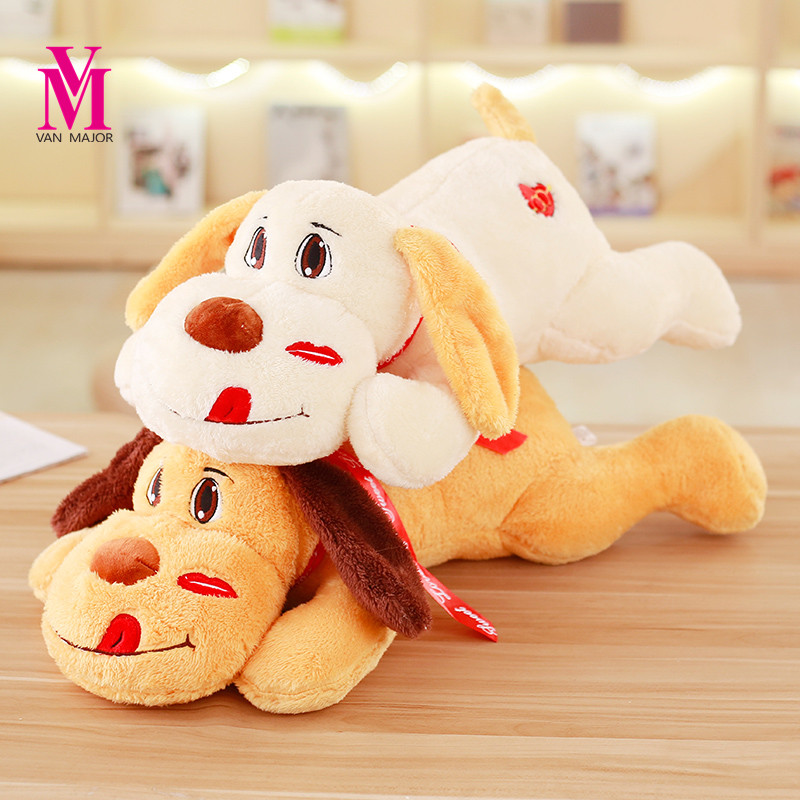 Vanmajor  30cm Cute Love Dog Plush Toy Kawaii Kids Doll Stuffed Soft Animal Pillow Birthday Gift Home Decro Nice Brinquedos cute 45cm stuffed soft plush penguin toys stuffed animals doll soft sleep pillow cushion for gift birthady party gift baby toy