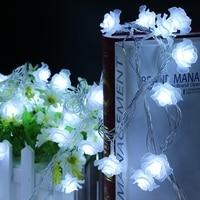 10M 100 LED Holiday Light Love Rose Led Nightlight Valentine Day LED String Lighting Flower Party