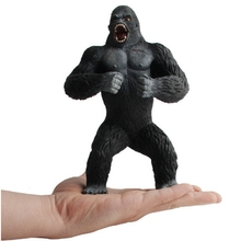 GEEK KING 19cm Action Figures Animal Chimpanzee King Kong Skull Island Gorilla PVC Action Figure Model Toys Doll For Boys Gift scary gorilla king kong figure mask headgear style assorted