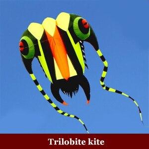 1 шт. 7 кв. М трилобитовый кайт для спорта на открытом воздухе воздушные змеи Дельфин легко летают бескаркасные летающие игрушки, мягкий змей,...