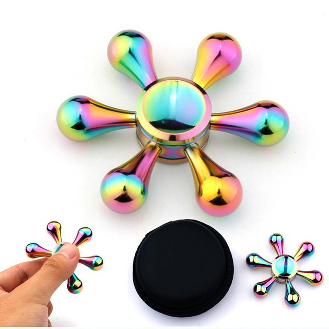 Colorful Hand Spinner Aluminum Alloy Anti Stress Metal Fid