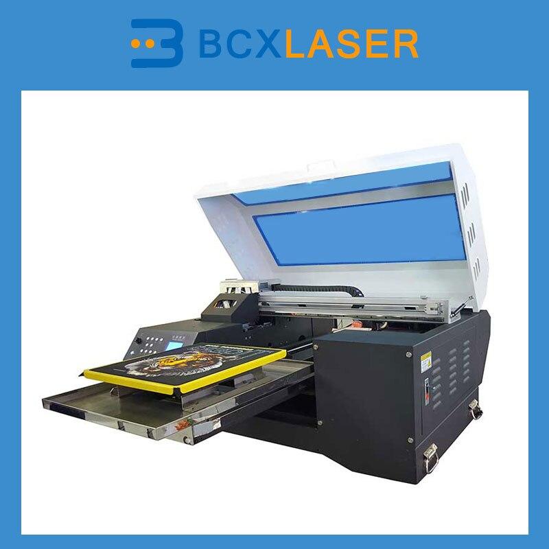 A3 размер одежды машина Принтер multicolor плоскую кровать футболка принтер, цифровая печать на ткани машины