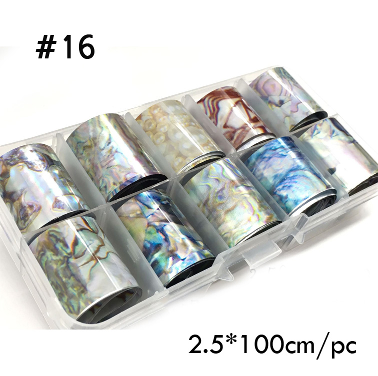 Image 2 - 1 Box Shell Nail Foil Holiday Seaside Design Nail Transfer Foil Sticker Manicure Nail Art Decorations-in Stickers & Decals from Beauty & Health