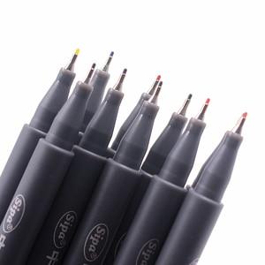 Image 2 - Jonvon Satone 50pcs(5lot) Fineliner Drawing Pen Cartoon Design Water Color Pens Stationery Office School Supplies For Wholesale
