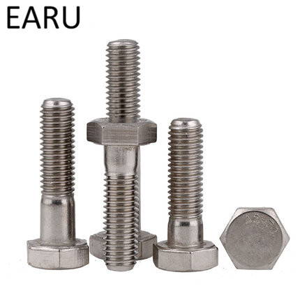DIN931 Standard  304 Stainless Steel Half-tooth External Hexagon Hex Head Screws Bolt M6*30/35/40/45/50/55/60/70/80/90/100-150mm stainless steel expansion screw bolt lengthened bursting wire metric standard for air conditioner m8 60 70 80 100