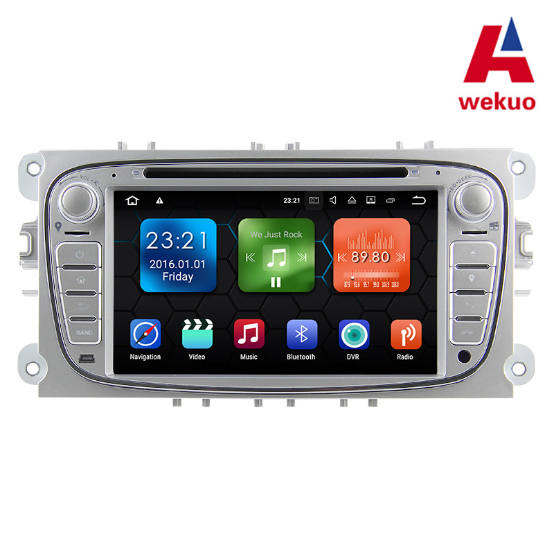 Wekuo 2G RAM Android7.1 Car DVD Player For Focus Mondeo Galaxy 2008-2014 Car radio Audio Radio Stereo GPS Head Unit with