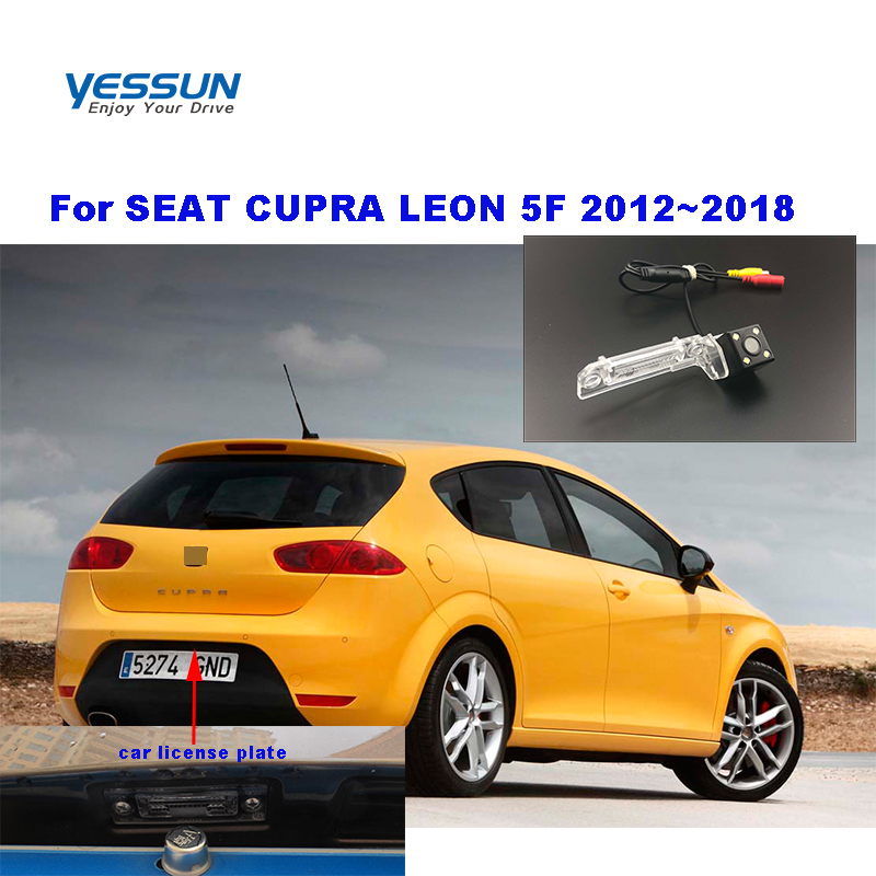Yessun License Plate Camera For SEAT CUPRA LEON 5F 2012~2018  Car Rear View Camera Parking Assistance