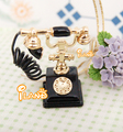 New arrival doll house mini model accessories fashion antique metal telephone