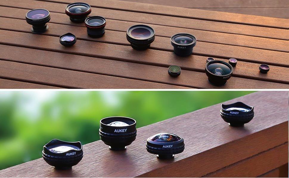 AUKEY Optic Pro Lens Super Wide Angle 238 Degree High Clarity telefon kamera lensi Camera Lens Kit for iPhone Android Smartphone 2