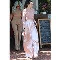 AEL/розовые широкие брюки с высокой талией для женщин  лето 2019  модные элегантные тонкие длинные повседневные брюки  женская одежда  высокое к...