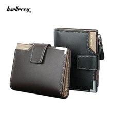 2016 Ny ankomst märke korta män plånbok, högkvalitativ garanti dragkedja handväska för manlig, fin mynt handväska, fri frakt
