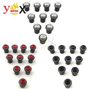 Image 1 - 10pcs 5 millimetri Parabrezza Parabrezza Viti Bulloni A Vite Kit Per SUZUKI Katana GSXR 600 GSX R750 GSXR1000 Bandit GSF650s 1200s