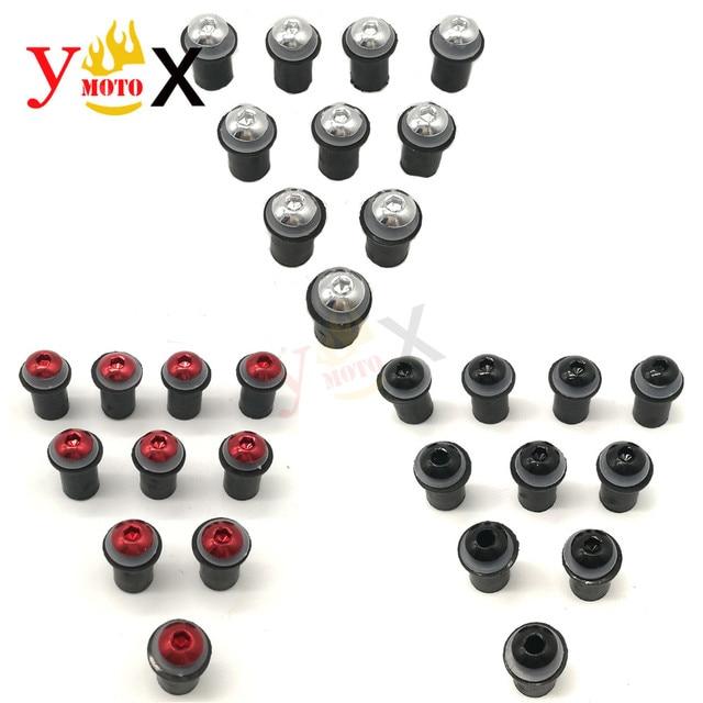 10pcs 5 millimetri Parabrezza Parabrezza Viti Bulloni A Vite Kit Per SUZUKI Katana GSXR 600 GSX R750 GSXR1000 Bandit GSF650s 1200s