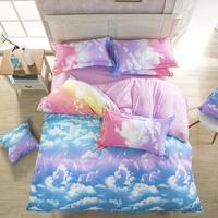 New Style Fashion Style Cloud Bedding Set Queen/Full/Twin Size Bed Linen Set 4pcs Polyester Queen Bed Sets Duvet Cover