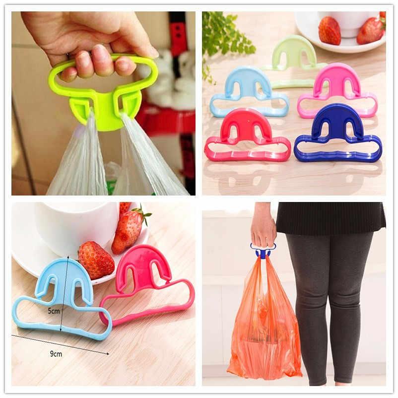 1 pcs Ganchos Para Pendurar Cesta Bolsa Shopping Bag Holder Carry Saco de Lidar Com Grip Confortável Proteger Mão Ferramentas Cor Aleatória
