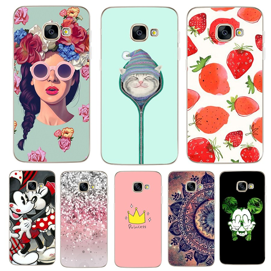 reputable site 5c3a9 deef5 S8 Samsung Galaxy S8 Case Soft Cute Cat Flower Girls Print Silicon Fundas  Cases For Samsung A5 Coque