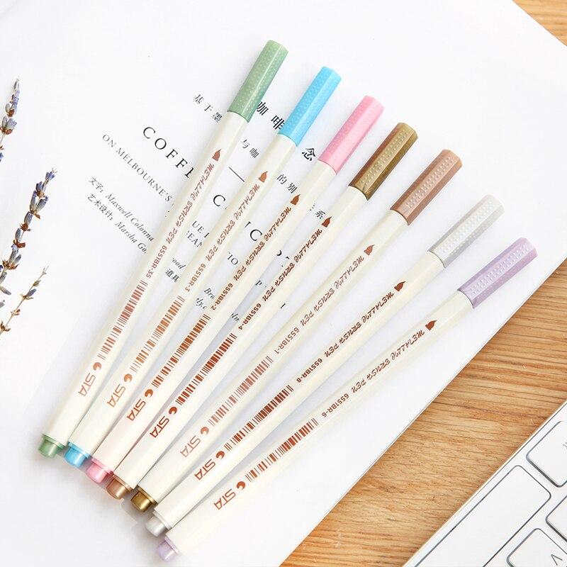 10 Farbe Aquarell Stift Weichen Marker Stift Textmarker Design ...