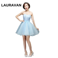 women clothings summer strapless sweetheart dress brides made dress sky blue party occassion dresses 2019 for wedding party