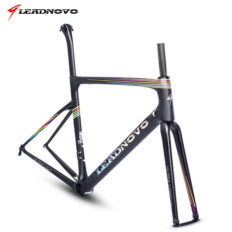 Rainbow superlight freio freio a disco quadro de estrada de carbono UD fosco brilhante normal Di2 Mecânica taiwan quadros de bicicletas de corrida