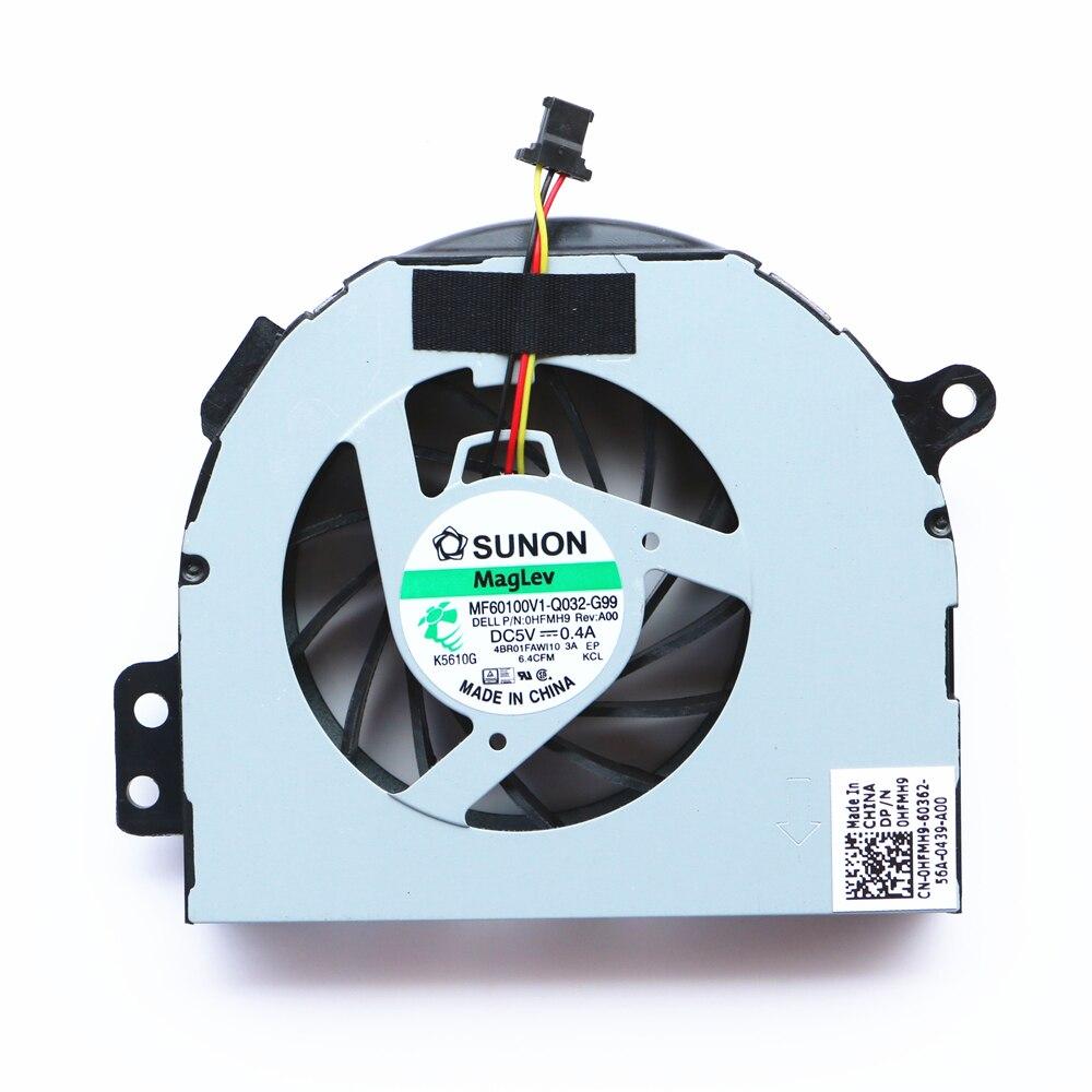 Процессор вентилятор для Dell Inspiron N4110 N4120 M411R N4410 V3450 Cpu охлаждающий вентилятор SUNON MF60100V1-Q032-G99 DP/N: 0HFMH9 4BR01FAWI10