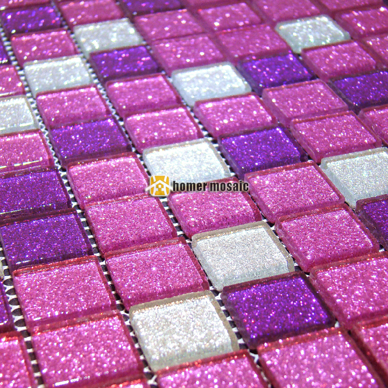 Purple Tile Backsplash Glass Mosaic Art Kitchen Tiles: Shining Purple Crystal Glass Mosaic Tiles EHGM1086 For